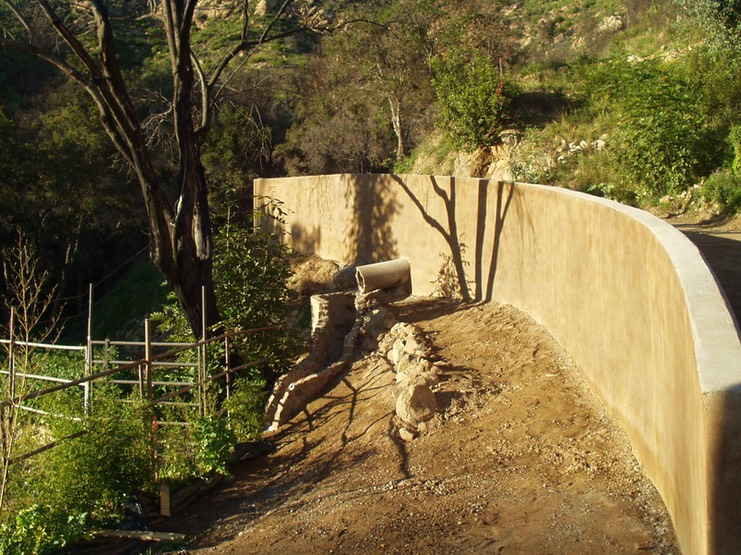 New Retaining Wall on Drilled Piers