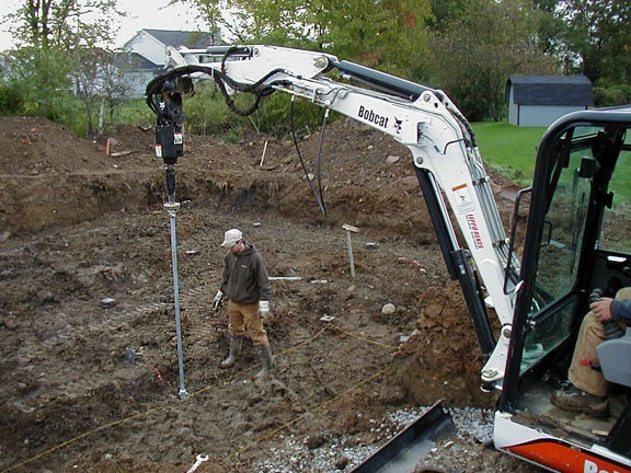Screw Piling Installation for New Home