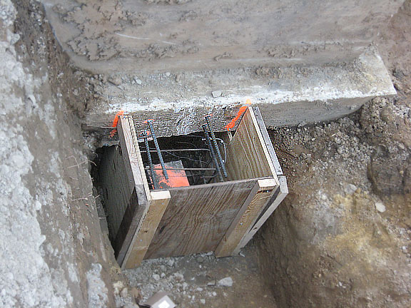 Underpinning Haunch Ready For Concrete Midwest